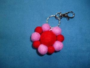 Schlüsselanhänger/Taschenbaumler *rosarote  Blüte* - Geschenk für Mädchen und Frauen -   - Handarbeit kaufen