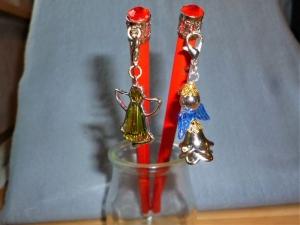 Bleistifte mit Charmanhänger  - Engel -  und Glitzerstein - im 2er Set  - Geschenk für Mädchen  (Kopie id: 100268398) - Handarbeit kaufen