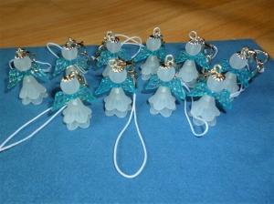 10 Stück Blütenengel, Schutzengel, Glücksbringer, Gastgeschenk zur Taufe, Kommunion, Konfirmation, Geschenk für Jungen - Handarbeit kaufen