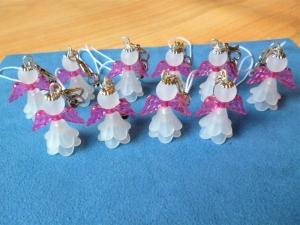 Handgefertigte  kleine  *Engelchen  mit rosa Flügeln*   im 10er Set - Glücksbringer  - Handarbeit kaufen