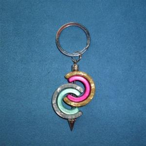 Handgefertigter  Schlüsselanhänger aus Polaris Kreativ Elementen *Hufeisen* - Geschenk für alle - - Handarbeit kaufen