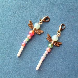 Handgefertigte Anhänger *Libelle* im 2er Set - Geschenk für Mädchen - - Handarbeit kaufen