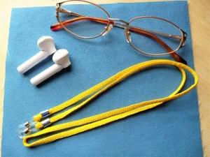 Handgeflochtenes Brillenband  aus Schmuckkordel für Sonnenbrillen, Lesebrillen und kabellose Kopfhörer (Kopie id: 100282929) - Handarbeit kaufen