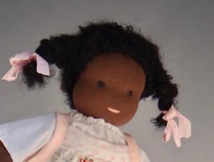 Stoffpuppe Mädchen ca.35 cm in Handarbeit hergestellt Oktober 2018
