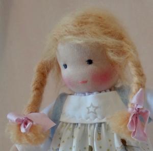 Stoffpuppe Mädchen ca. 35 cm in Handarbeit hergestellt  2018