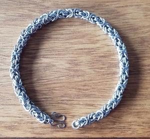 Armband im byzantinischen Muster, Königskette aus Edelstahl