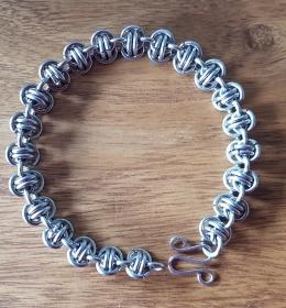 Armband im Barrel Muster (Barrel Weave), aus Edelstahl