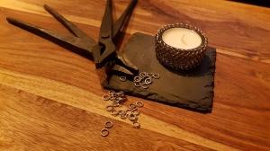 Teelichthalter mit Chainmaillemuster aus Edelstahl (European 4 in 1)