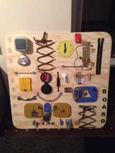 Motorikspielzeug, Activity Board, Sensory Board, Montessori  Educational Toy