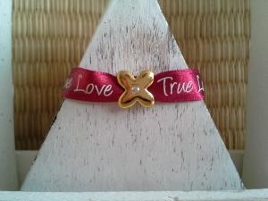 Armband ♥ True Love ♥, Freundschaftsarmband,  Armband Love - Handarbeit kaufen