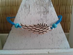 Armband ♥ Engelsflügel ♥,  mit Schmuckkarte, Gummiarmband - Handarbeit kaufen