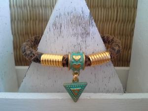 Armband ♥ Aztek-Look ♥ ☆, Lederarmband mit Anhänger im Antik-Look