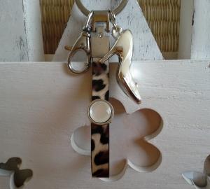 Schlüsselanhänger ★ High Heel ★ ♡, aus Kunstleder mit Anhänger - Handarbeit kaufen