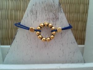 Armband ♥ Kreis ♥ ☆, elastisches Armband mit Schmuckkarte, Freundschaftsarmband - Handarbeit kaufen