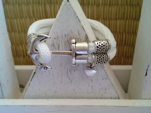 Armband Anker ♥, aus Segelseil mit Ankerverschluss