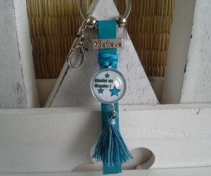 Schlüsselanhänger ★ Glaube an Wunder ★ ♡ , aus Kunstleder mit Cabochon-Anhänger  - Handarbeit kaufen