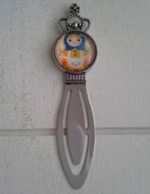 Lesezeichen ★ Puppe ★♡ Metallklammer mit Cabochon  - Handarbeit kaufen