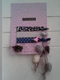 Haargummis ♥ Friends ♥, elastische Haarbänder/Armbänder auf Schmuckkarte - Handarbeit kaufen