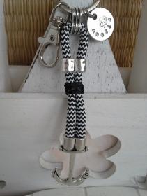 Schlüsselanhänger ★ Anker ★ ♡ , aus Segelseil mit personalisiertem Anhänger  - Handarbeit kaufen