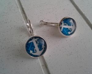 Ohrringe ♥ Anker ♥,  ☆ versilbert ☀ verschiedene Motive ☀ - Handarbeit kaufen