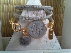 Armband ♥ Follow your Heart ♥ ☆, Kunstlederarmband mit bedruckten Anhängern, (★individualisierbar!★) - Handarbeit kaufen