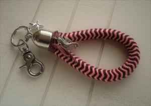Schlüsselanhänger ★ Seepferdchen ★ ♡ , aus Kordelseil  - Handarbeit kaufen