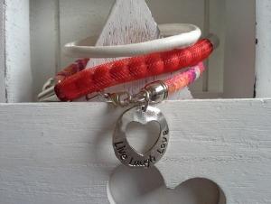 Armband ☀Live Laugh Love☀ ☆, Wickelarmband aus verschiedenen Bändern