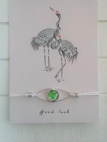 Armband ♥ Good Luck ♥ ☆,  geknüpftes Armband mit Schmuckkarte  - Handarbeit kaufen