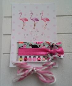 Haargummis ♥ Katze ♥, elastische Haarbänder/Armbänder auf Schmuckkarte - Handarbeit kaufen