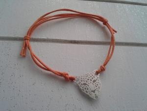 Armband ♥ Leopard ♥, geknüpftes Armband mit filigranem Anhänger ☀ individualisierbar!  - Handarbeit kaufen