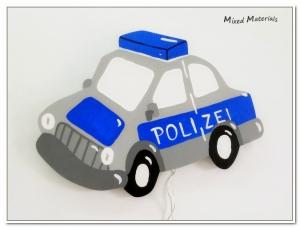 Kinder - Schlummerlampe  POLIZEI  mit LED-Beleuchtung      - Handarbeit kaufen