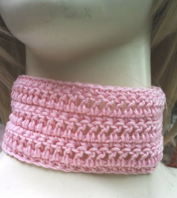 Halsband ♡ handgehäkelt aus Baumwolle in Rosa kaufen