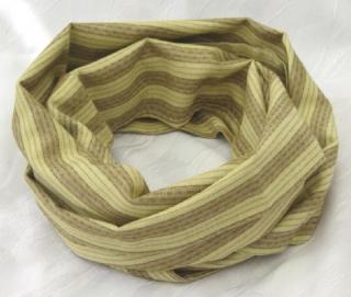 Rundschal ♡ Schlauchschal ♡ Männerschal handgefertigt aus Baumwolljersey in beige und hellbraun kaufen