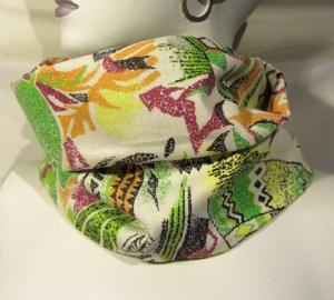 Rundschal im Mustermix handgefertigt aus Baumwolle kaufen
