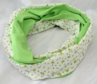 Rundschal ✂ Schlauchschal von beiden Seiten tragbar handgenäht aus Baumwolle und Viskose kaufen