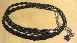 Armband handgeflochten aus schwarzem Wachsband als Freundschaftsarmband kaufen