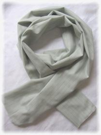 Eleganter langer Schal handgefertigt aus Baumwolljersey in Beige mit feinen Nadelstreifen kaufen - Handarbeit kaufen