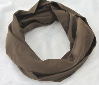 Rundschal ♡ Schlauchschal ♡ für Sie und Ihn handgemacht aus Baumwolljersey in Schokoladenbraun kaufen