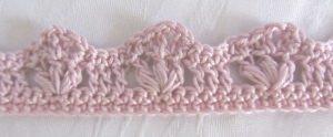 Zierborte ♡  handgehäkelt aus Baumwolle in Rosa oder in Ihrer Wunschfarbe bestellen