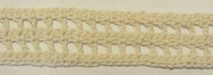 Zierborte ♡  handgehäkelt aus Baumwolle in Creme oder in Ihrer Wunschfarbe bestellen