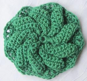 Blüte ☀ handgehäkelt aus Baumwolle in Grün Creme oder Rosa kaufen