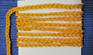 Geschenkband handgehäkelt aus Baumwolle in Gelb kaufen oder in Ihrer Wunschfarbe bestellen