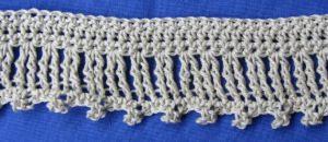 Zierborte ♡ handgehäkelt aus Baumwolle bei freier Farbwahl bestellen