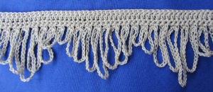 Zierborte ♡ Borte Bordüre handgehäkelt aus Baumwolle in der Farbe Creme oder in Ihrer Wunschfarbe bestellen