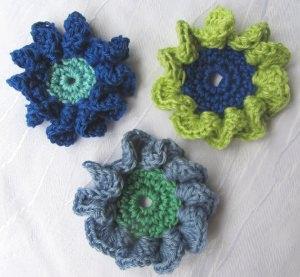 Blüte ☀ aus Baumwolle handgehäkelt bestellen freie Farbwahl