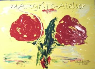 Handgemaltes Acrylbild mit dem Titel Tango gemalt mit Acrylfarben auf Acrylpapier direkt von der Künstlerin kaufen - Handarbeit kaufen
