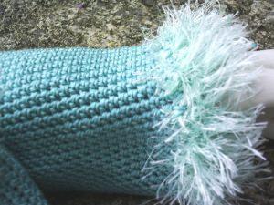 Armstulpen handgehäkelt aus Baumwolle in Mintgrün kaufen