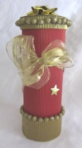 Handgefertigte Geschenkschachtel ☆ gefertigt aus Wellpappe und anderen Materialien in weihnachtlichem Design  kaufen - Handarbeit kaufen