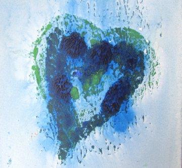 Acrylbild Herz ♡ handgemalt mit Acrylfarben auf Pappe direkt von der Künstlerin das Original kaufen