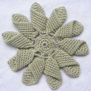 Applikation Windrose ☀ handgehäkelt aus Baumwolle in Leinen und Weiß oder in Ihrer Wunschfarbe bestellen